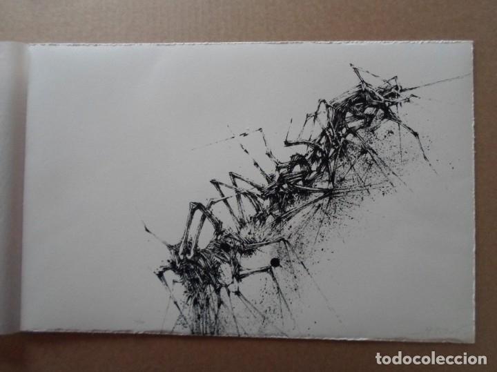 Arte: Manuel Rivera (Granada, 1927-Madrid, 1995) serigrafía 1980 de 32x49cms, firmada lápiz y num 17/350 - Foto 4 - 122153915