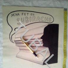 Arte: TUBAL 1968 CARTEL SERIGRAFIA SUBIRACHS GALERIA SEIQUER. Lote 161941286