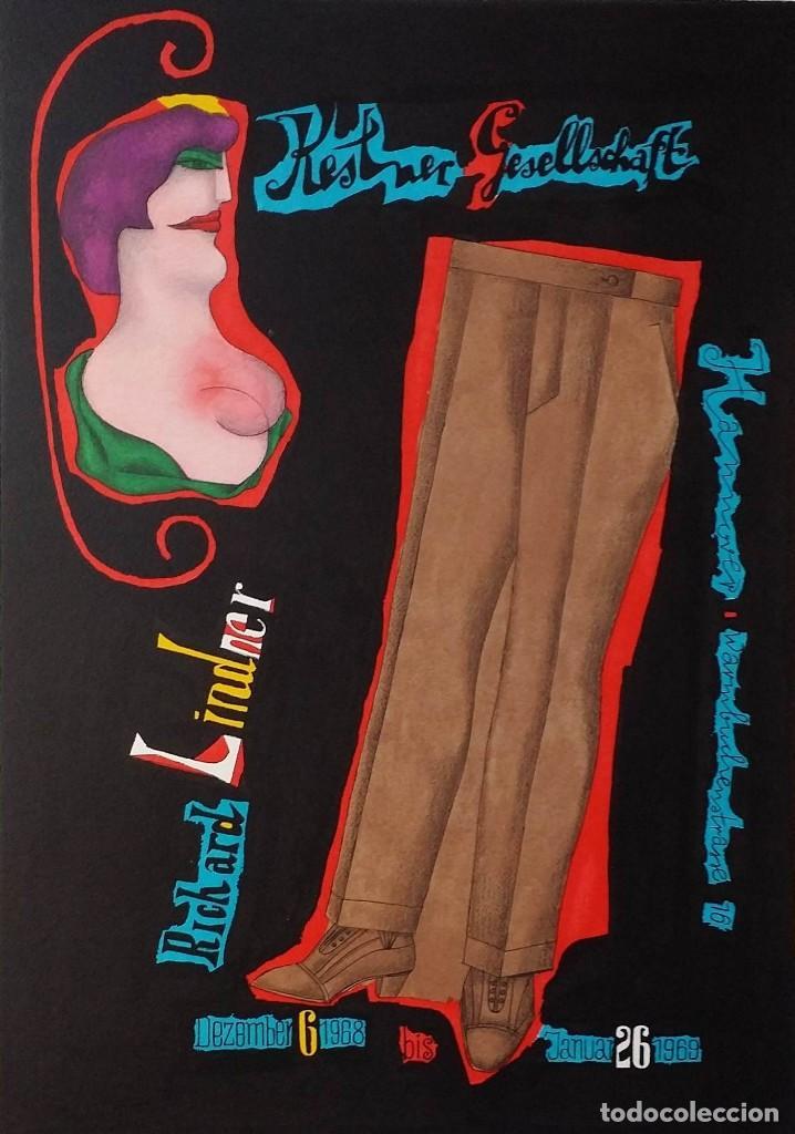 RICHARD LINDNER, SERIGRAFÍA FIRMADA DE 1968 (Arte - Serigrafías )