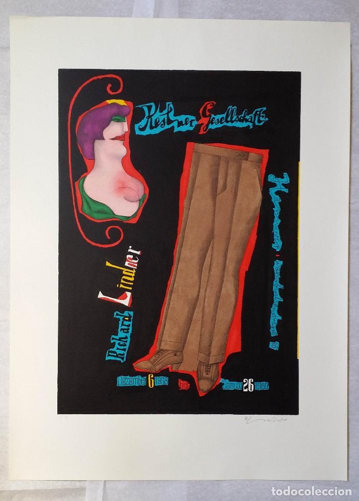 Arte: Richard Lindner, serigrafía firmada de 1968 - Foto 2 - 162005786