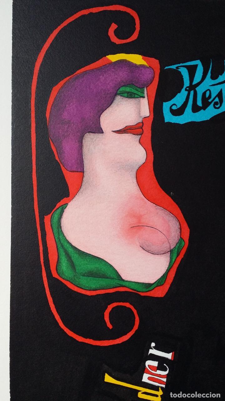 Arte: Richard Lindner, serigrafía firmada de 1968 - Foto 3 - 162005786