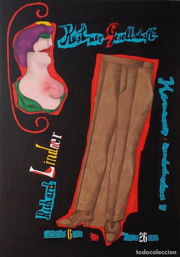 Arte: Richard Lindner, serigrafía firmada de 1968 - Foto 14 - 162005786