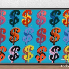 Arte: CARTEL LAMINA DE - ANDY WARHOL - SIGNO DEL DOLAR SERIE - POP ART - TAMAÑO 67,7 X 42,3 CMS. Lote 162126674