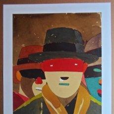 Arte: EDUARDO ARROYO (MADRID 1937-2018) SERIGRAFÍA 2015 DE 61X50CMS EN PAPEL 75X61 FIRMADA Y EA SOLO /30. Lote 163954930