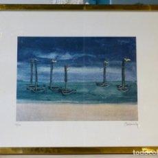 Arte: SERIGRAFÍA NUMERADA Y FIRMADA DE LOS AÑOS 70. Lote 165216046
