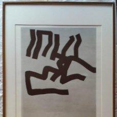 Arte: EDUARDO CHILLIDA: SERIGRAFÍA DE 1969, CARTEL DE LA GALERÍA VEREIN. Lote 166492230