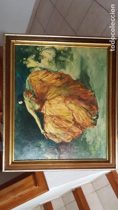CUADRO FCO. RODRIGUEZ SANCHEZ CLEMENTE - REPRO EN SERIGRAFÍA BARNIZADA S/TABLA ENMAR. 50X61 (Arte - Serigrafías )