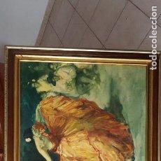 Arte: CUADRO FCO. RODRIGUEZ SANCHEZ CLEMENTE - REPRO EN SERIGRAFÍA BARNIZADA S/TABLA ENMAR. 50X61. Lote 135345462