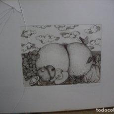 Arte: ANTIGUA LAMINA NUMERADA Y FIRMADA. Lote 167127072