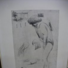 Arte: ANTIGUA LAMINA NUMERADA Y FIRMADA. Lote 167127108