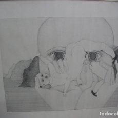 Arte: ANTIGUA LAMINA NUMERADA Y FIRMADA. Lote 167127140