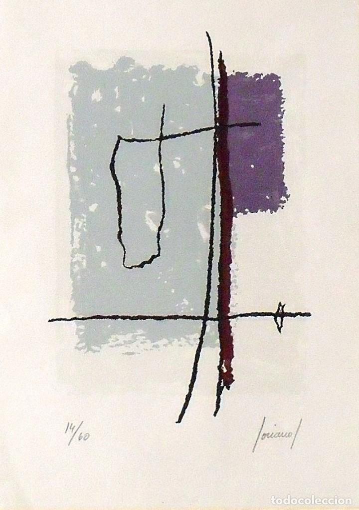 CARLOS SORIANO. SERIGRAFÍA COMPOSICIÓN. NUMERADA 14/60. FIRMADA A MANO. 1991. 36X25 CM. PAPEL GUARRO (Arte - Serigrafías )