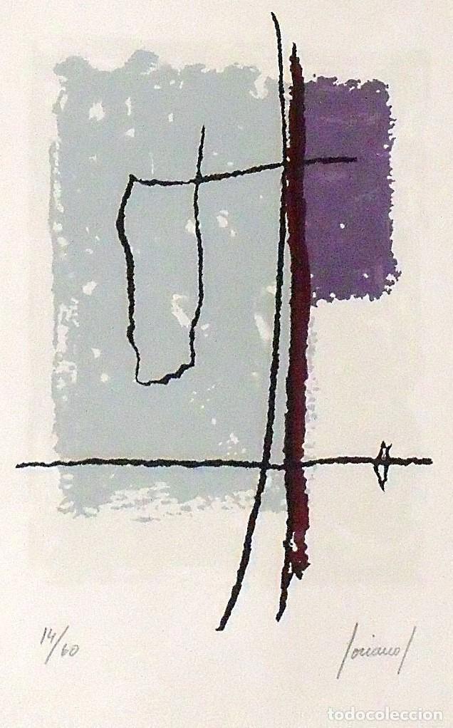Arte: Carlos Soriano. Serigrafía Composición. Numerada 14/60. Firmada a mano. 1991. 36x25 cm. Papel Guarro - Foto 2 - 218462018