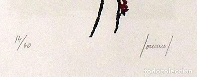 Arte: Carlos Soriano. Serigrafía Composición. Numerada 14/60. Firmada a mano. 1991. 36x25 cm. Papel Guarro - Foto 3 - 218462018