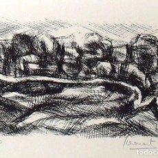 Arte: ANTONI LLEONART. PAISAJE. SERIGRAFÍA NUMERADA 14/60. FIRMADA A MANO. 1991. 25X36 CM. PAPEL GUARRO.. Lote 167617996