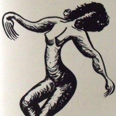 Arte: NÚRIA AYMERICH. SERIGRAFÍA SILUETA FEMENINA. NUMERADA 14/60. FIRMADA A MANO. 1991. 36X25 CM. . Lote 167618636