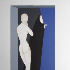 Arte - Manuel de las Casas (Madrid, 1924) serigrafía de 1978 de 50x64cms, firmada a lápiz y numerada 109/14 - 168179856