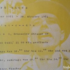 Arte: JOSEPH BEUYS: ART INTERMEDIA, SERIGRAFÍA DE 1970. Lote 168344356