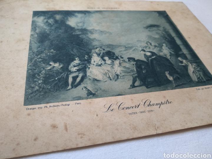 Arte: Lámina papel con serigrafía. Musee de Valenciennes. Original de su época. - Foto 2 - 168698980