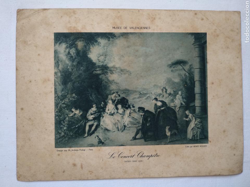 LÁMINA PAPEL CON SERIGRAFÍA. MUSEE DE VALENCIENNES. ORIGINAL DE SU ÉPOCA. (Arte - Serigrafías )