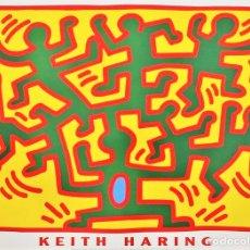 Arte: POSTER ORIGINAL CARTEL - KEITH HARING - DE LAS SERIES 'GROWING' 2002.TAMAÑO 60 X 80 CMS. Lote 168762516