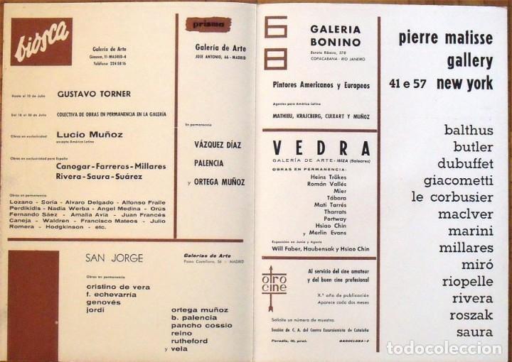 Arte: Serigrafía original Antonio Saura. Portada Correo de las Artes Nº 32. 1961. Buen estado. - Foto 4 - 196103757