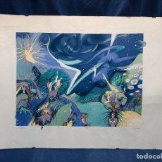 Arte: SERIGRAFIA ONIRICA SURREALISTA FIRMADA ILEGIBLE NUMERADA 121/200 QUIZAS PERSA SELLO SECO 50X70CMS. Lote 168989936