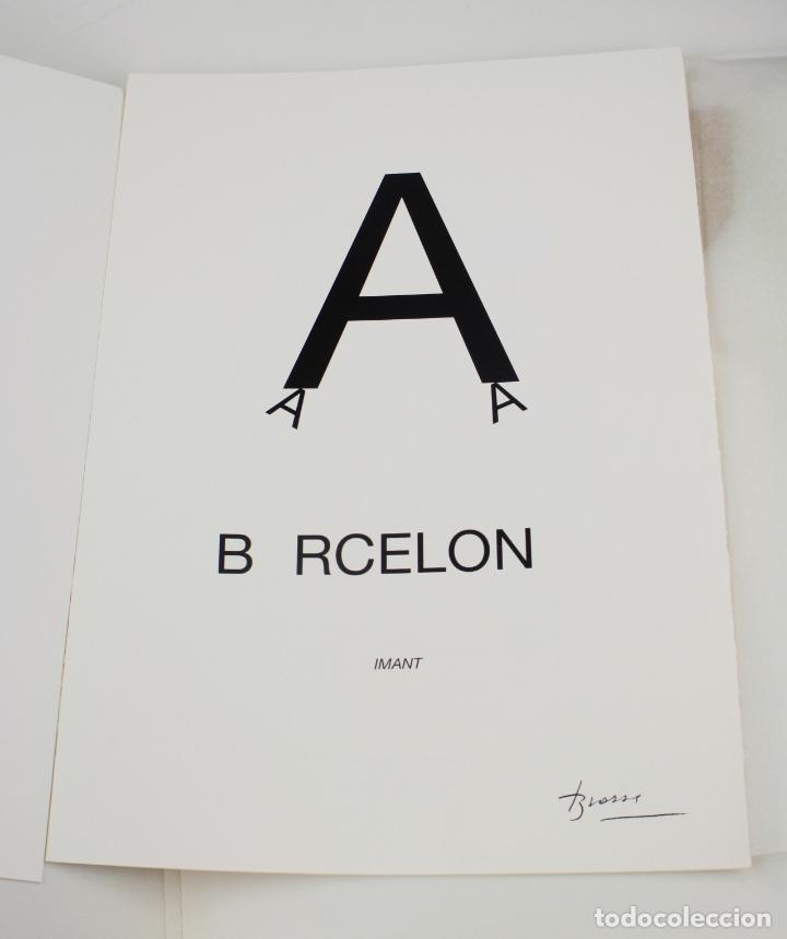 SERIGRAFÍA DE JOAN BROSSA, BARCELONA, EDICIÓN FACSÍMIL, 2005, AÑO DEL LIBRO Y LA LECTURA. (Arte - Serigrafías )
