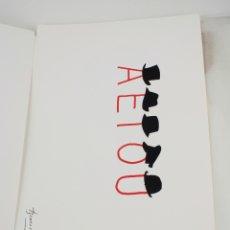 Arte: SERIGRAFIA DE JOAN BROSSA, A E I O U, EDICIÓN FACSÍMIL, 2005, AÑO DEL LIBRO Y LA LECTURA, BARCELONA.. Lote 169269988