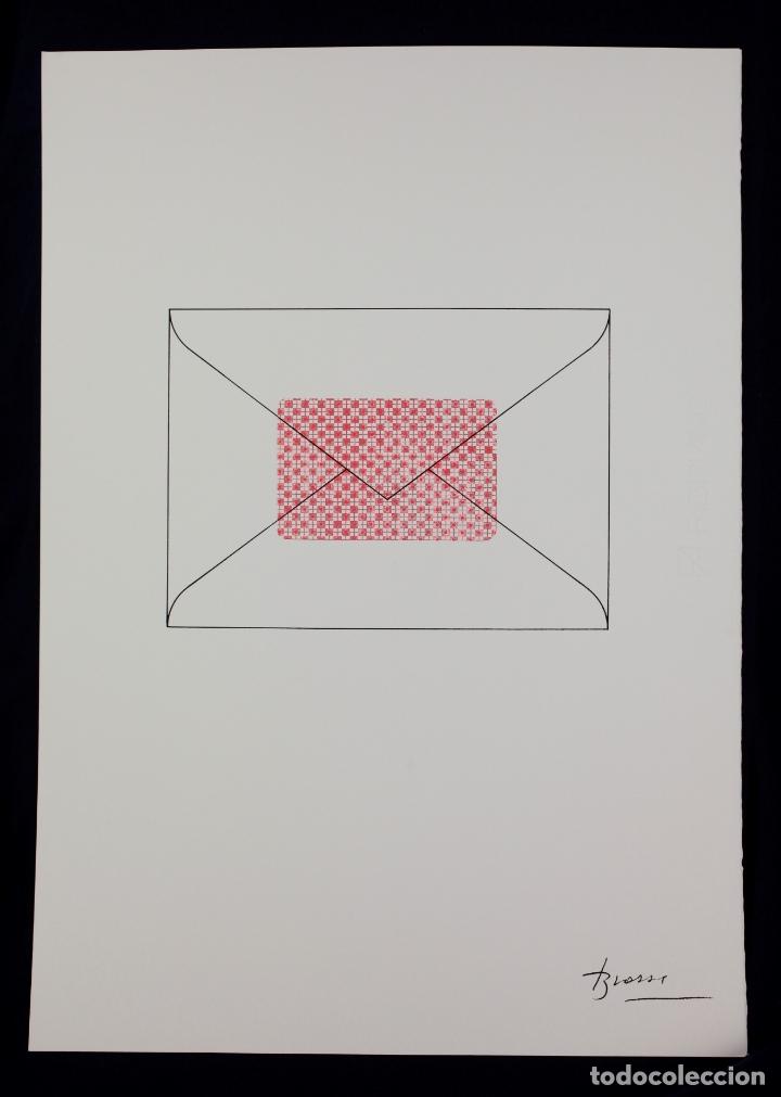 SERIGRAFIA DE JOAN BROSSA, SOBRE, EDICIÓN FACSÍMIL, 2001, BARCELONA. (Arte - Serigrafías )