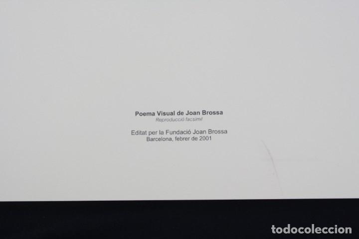 Arte: Serigrafía de Joan Brossa, poema visual, placa de timbres, edición facsímil, 2001, Barcelona 50x35cm - Foto 2 - 169564840
