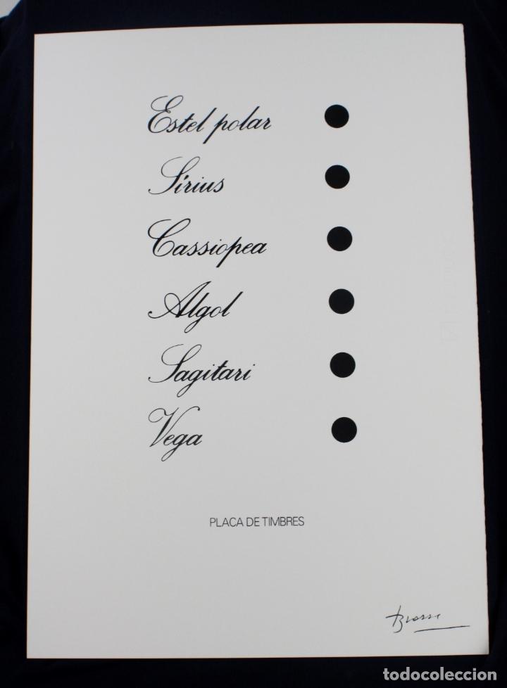SERIGRAFÍA DE JOAN BROSSA, POEMA VISUAL, PLACA DE TIMBRES, EDICIÓN FACSÍMIL, 2001, BARCELONA 50X35CM (Arte - Serigrafías )