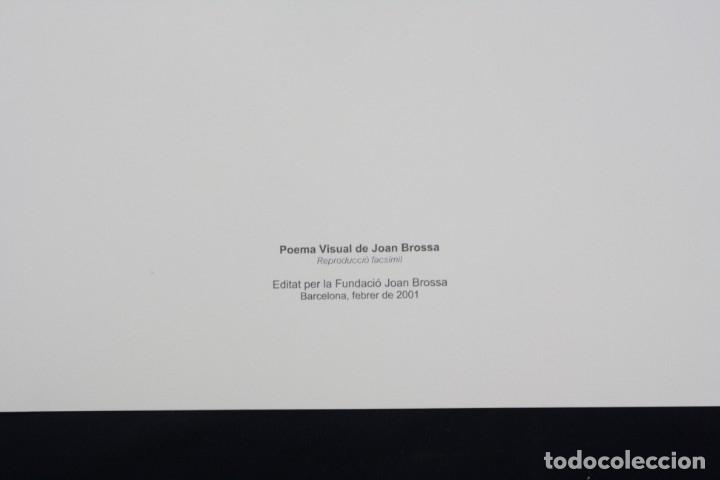 Arte: Serigrafía de Joan Brossa, poema visual, viatge, edición facsímil, 2001, Barcelona 50x35cm - Foto 2 - 169564900