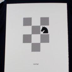 Arte: SERIGRAFÍA DE JOAN BROSSA, POEMA VISUAL, VIATGE, EDICIÓN FACSÍMIL, 2001, BARCELONA 50X35CM. Lote 169564900