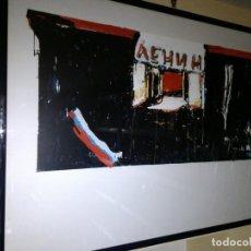 Arte: CUADRO SERIGRAFIA MARIO SCHIFANO 'LENIN'S TRIBUTE'. Lote 169958100