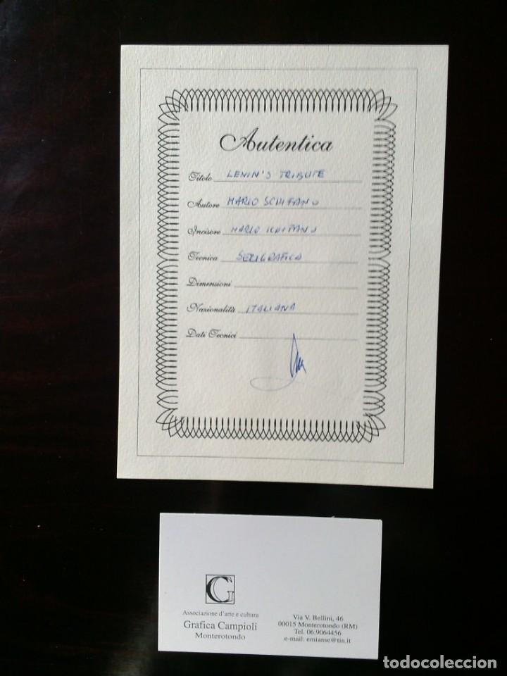 Arte: CUADRO SERIGRAFIA MARIO SCHIFANO 'LENIN'S TRIBUTE' - Foto 3 - 169958100
