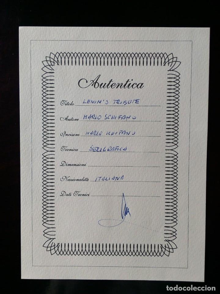 Arte: CUADRO SERIGRAFIA MARIO SCHIFANO 'LENIN'S TRIBUTE' - Foto 4 - 169958100