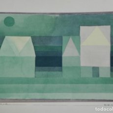 Arte: (M) PAUL KLEE POCHOIR - TROIS MAISONS, EDICIÓN DE 500 EJEMPLARES. Lote 169965240