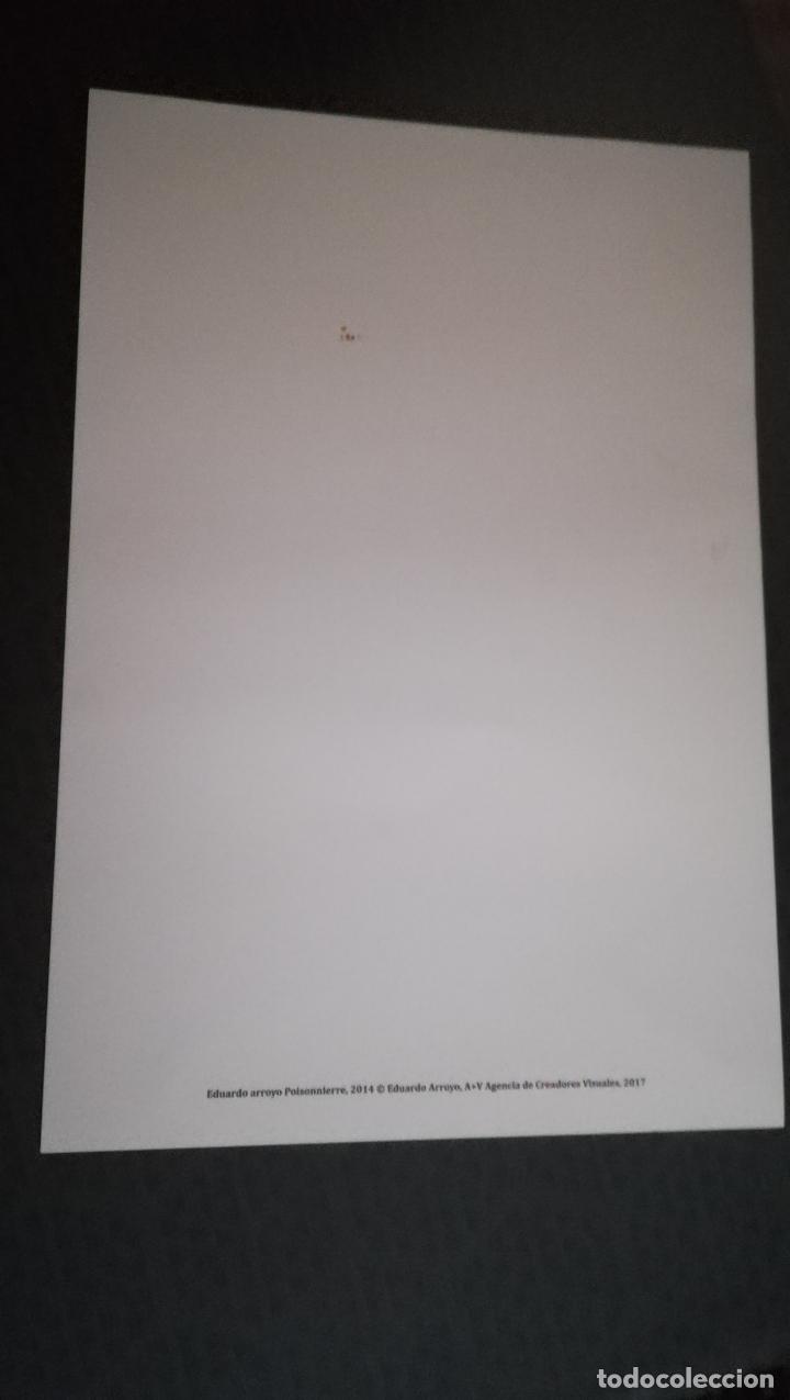 Arte: Lámina de Eduardo Arroyo - Poissonière - Año 2014 del Museo Bellas Artes Bilbao .Tamaño 47 x 32 cms - Foto 2 - 170354084