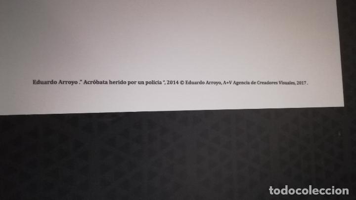 Arte: Lámina de Eduardo Arroyo - Poissonière - Año 2014 del Museo Bellas Artes Bilbao .Tamaño 47 x 32 cms - Foto 3 - 170354084