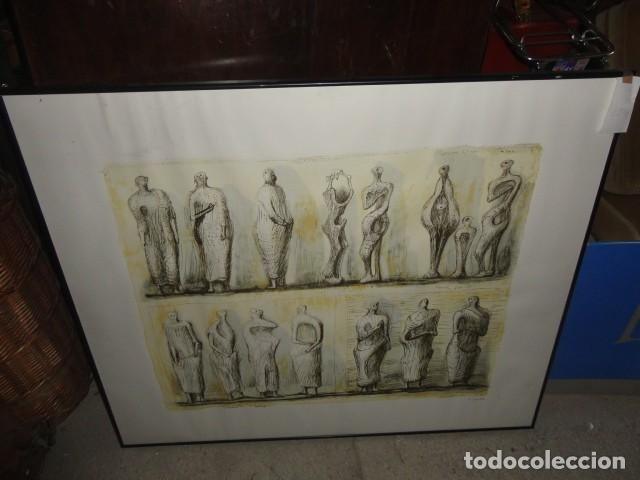 HENRY MOORE TERRACOTA HOME SERIGRAFÍA CARTULINA ENMARCADA MEDIDA 101 X 92 CM. SIN CRISTAL (Arte - Serigrafías )
