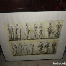 Arte: HENRY MOORE TERRACOTA HOME SERIGRAFÍA CARTULINA ENMARCADA MEDIDA 101 X 92 CM. SIN CRISTAL. Lote 170671365