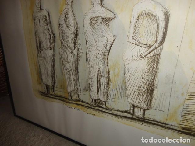 Arte: Henry Moore Terracota Home serigrafía cartulina enmarcada medida 101 X 92 cm. sin cristal - Foto 3 - 170671365