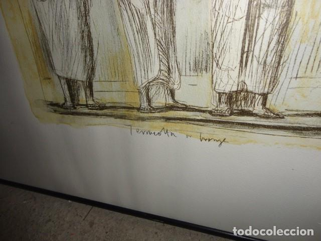 Arte: Henry Moore Terracota Home serigrafía cartulina enmarcada medida 101 X 92 cm. sin cristal - Foto 4 - 170671365