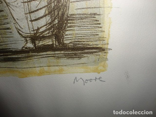 Arte: Henry Moore Terracota Home serigrafía cartulina enmarcada medida 101 X 92 cm. sin cristal - Foto 5 - 170671365
