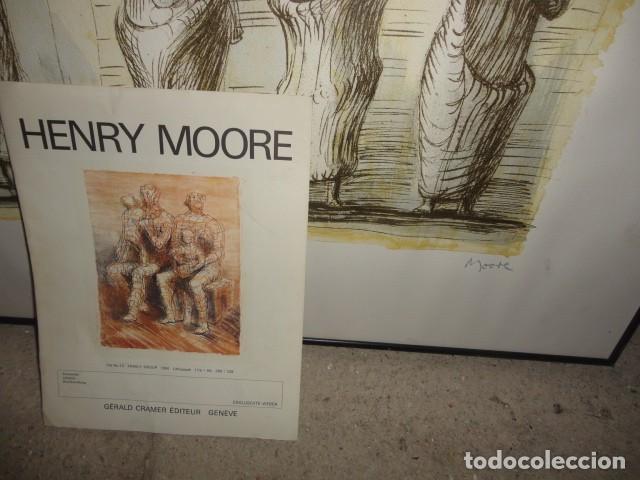 Arte: Henry Moore Terracota Home serigrafía cartulina enmarcada medida 101 X 92 cm. sin cristal - Foto 9 - 170671365