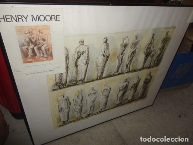 Arte: Henry Moore Terracota Home serigrafía cartulina enmarcada medida 101 X 92 cm. sin cristal - Foto 10 - 170671365