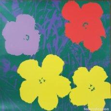 Arte: ANDY WARHOL. FLOWERS. SERIGRAFIA GRAN FORMATO. 91 X 91 CM. CATALOGO FELDMAN SCHELLMANN. Lote 170916435