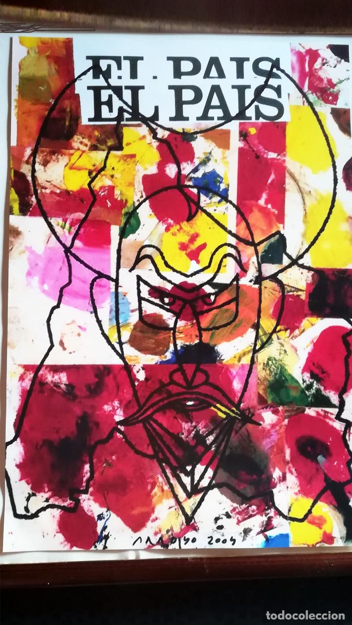 Arte: Lamina de - Eduardo Arroyo - Don Quijote - Ofrecida por Periodico El Pais Año 2004 - Tamaño 47 x 32 - Foto 2 - 171370012