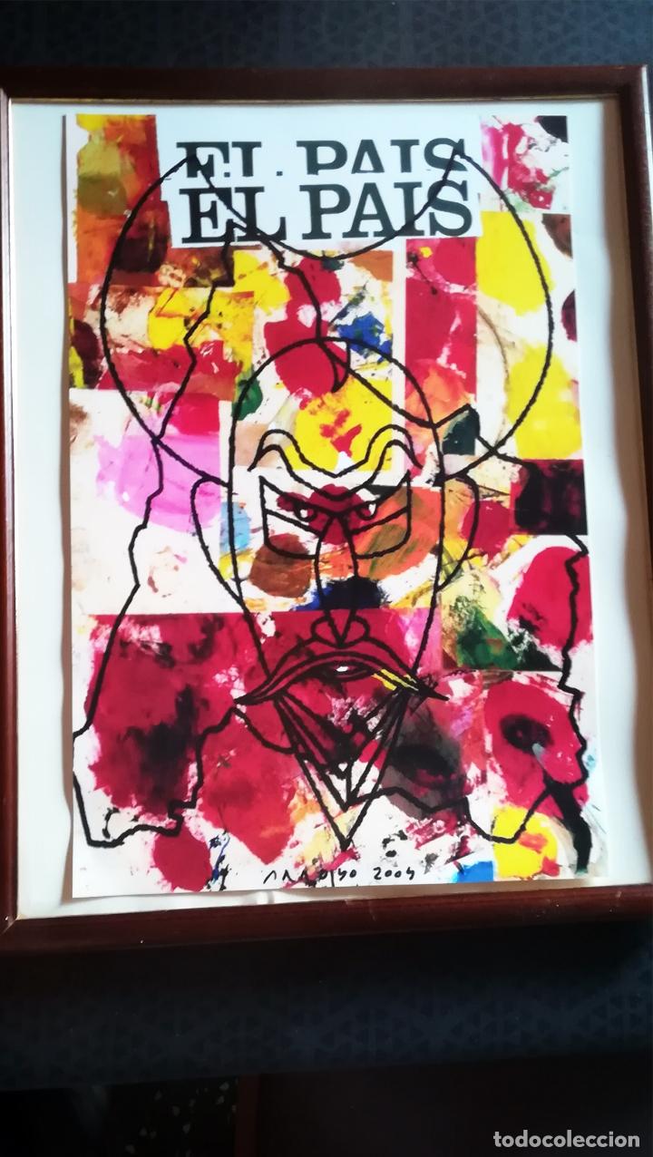 LAMINA DE - EDUARDO ARROYO - DON QUIJOTE - OFRECIDA POR PERIODICO EL PAIS AÑO 2004 - TAMAÑO 47 X 32 (Arte - Serigrafías )